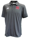 Adidas Under The Lights Coaches Sideline Polo Nebraska Cornhuskers, Nebraska Adidas, Huskers Adidas, Nebraska Polos, Huskers Polos, Nebraska  Mens Polos, Huskers  Mens Polos, Nebraska Adidas Grey Under The Lights Coaches Sideline Polo, Huskers Adidas Grey Under The Lights Coaches Sideline Polo
