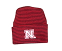 Husker Striped Newborn Beanie Nebraska Cornhuskers, husker football, nebraska cornhuskers merchandise, nebraska merchandise, husker merchandise, nebraska cornhuskers apparel, husker apparel, nebraska apparel, husker infant and toddler apparel, nebraska cornhuskers infant and toddler apparel, nebraska kids apparel, husker kids apparel, husker kids merchandise, nebraska cornhuskers kids merchandise,STRIPED NEWBORN KNIT CAP